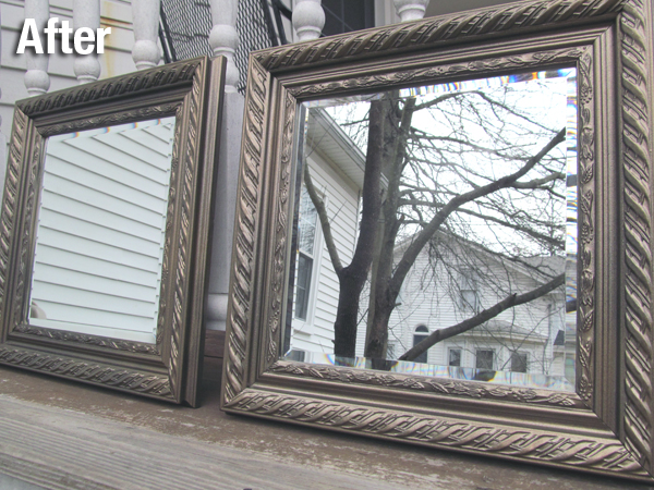 After: DIY Bronze Mirrors