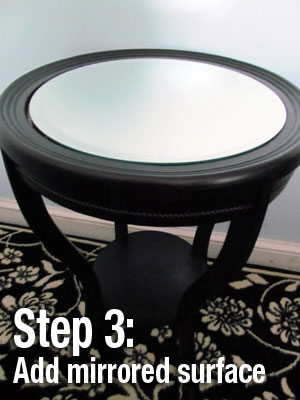 Step 3: DIY Mirrored Nightstand