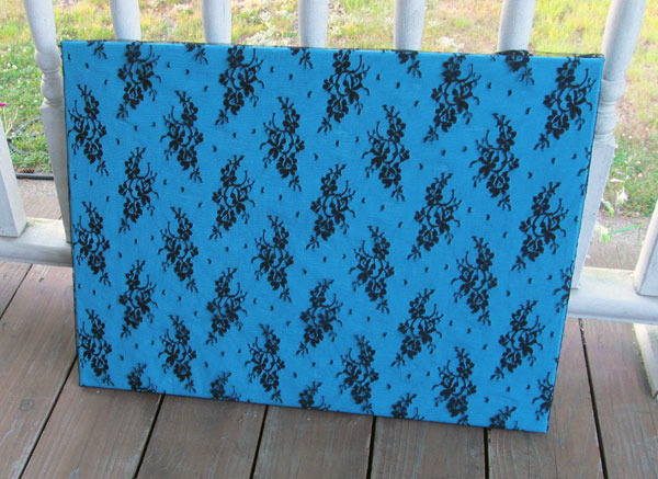 DIY Lace Covered Canvas