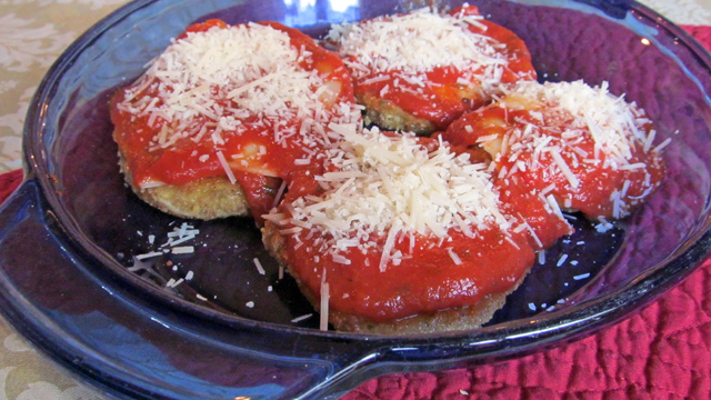 Three-Cheese Eggplant Parmesan