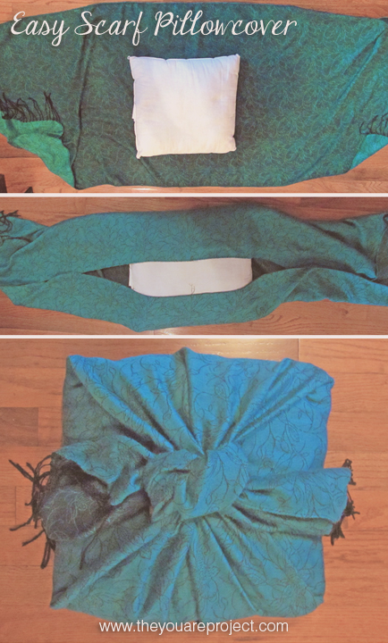 Turn a Scarf Into a Chic Pillowcase